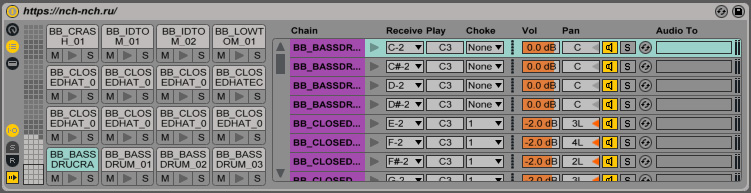 choke drum rack ableton live